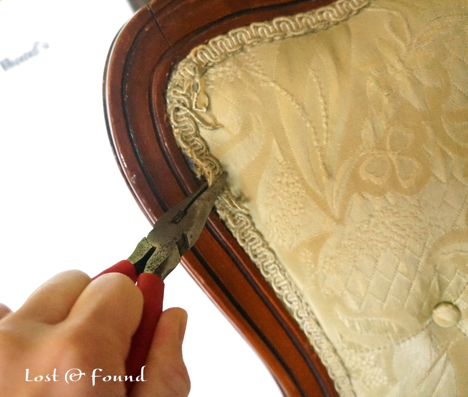 How to Reupholster a French Chair