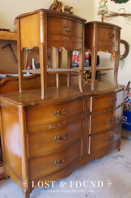 Bedroom Sets On Craigslist french provincial bedroom set reveal | lost & found
