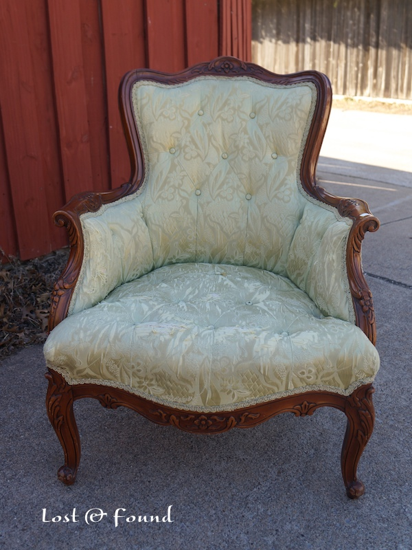 Makeover of Thrift store french chair