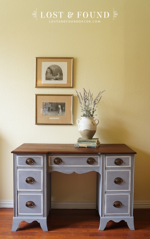 Vanity in Dried Lavender milk paint