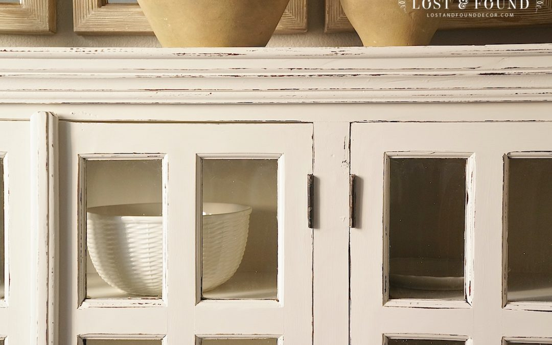 Dining Room Buffet Furniture Makeover using Fusion Mineral Paint Champlain