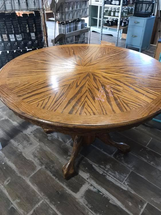 How To Get A Weathered Wood Look On Your Kitchen Table Top Using Paint Stain Lost Found - How To Stain And Seal Coffee Table