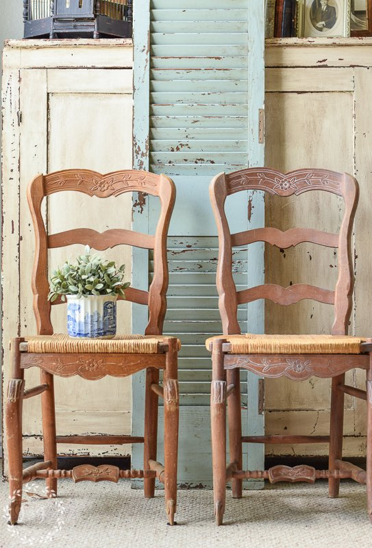 How To Make Pine Furniture Less Orange With Fusion S Liming Wax Pickled Pine Chairs Lost Found