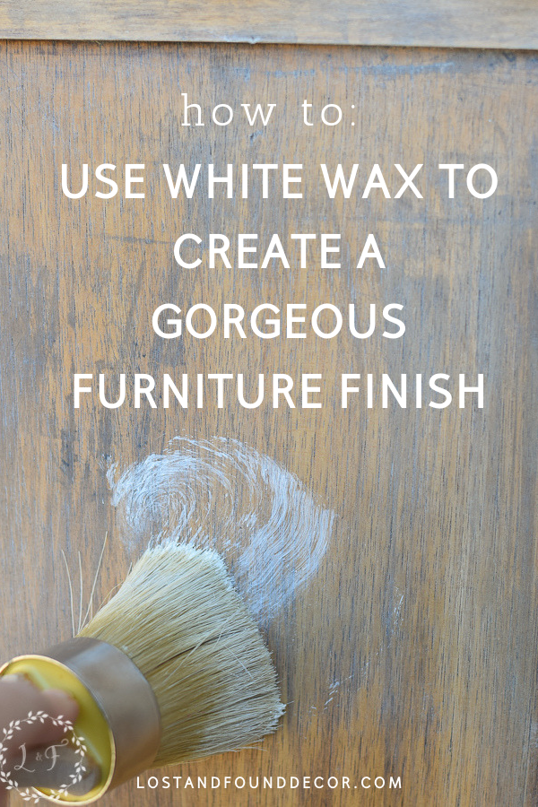 how to apply white wax