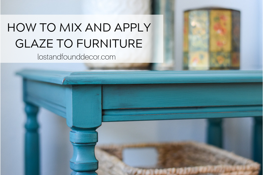 How to Apply Glaze to Painted Furniture VIDEO TUTORIAL
