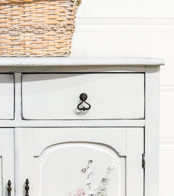 Painted Oak Cabinet Makeover