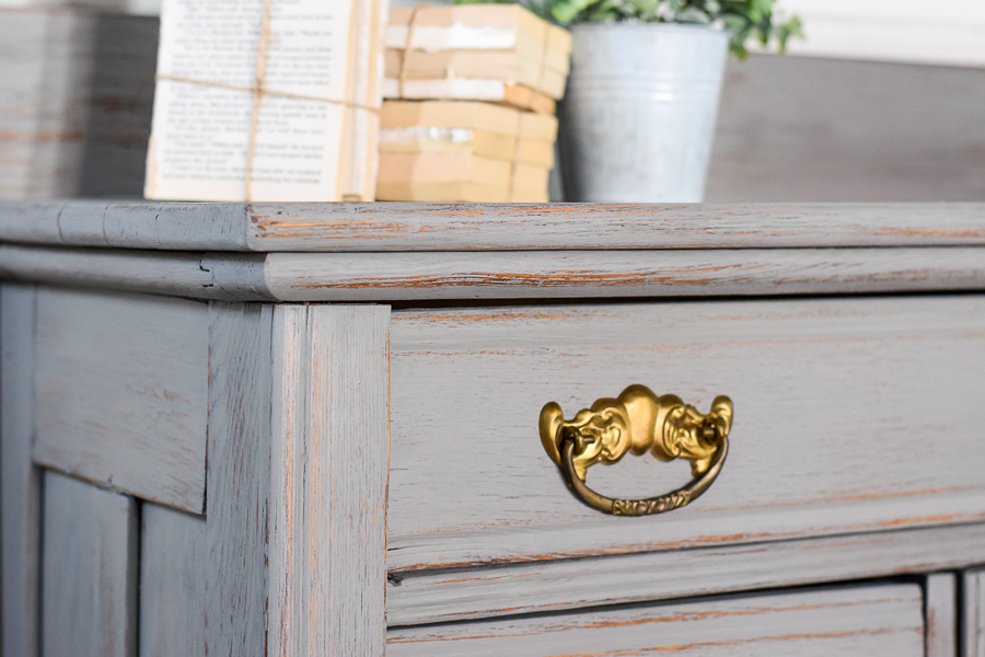 Gray Painted Washstand Makeover